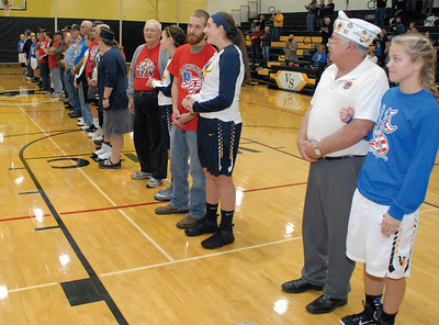 Nets for Vets at the Vinton-Shellsburg-Belle Plaine Girls Basketball game