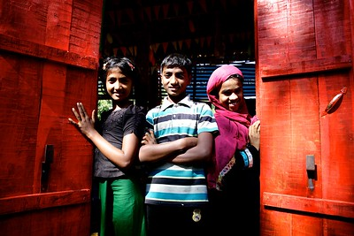 007- Brother & Sisters at UNICEF supported child-friendly space in Cox's Bazar.