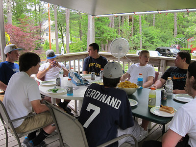 Varsity Baseball Cookout at Ian's House