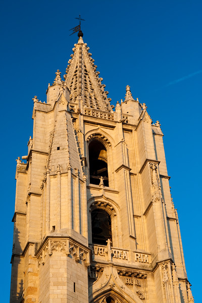 Cathedral's tower, town of Leon, autonomous community of Castilla y Leon, northern Spain