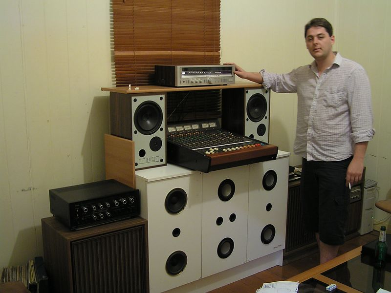 Greg and his hi-fi system.
