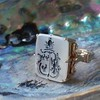 'Pineapple Family Crest' Chalcedony Ring, by Seal & Scribe 4