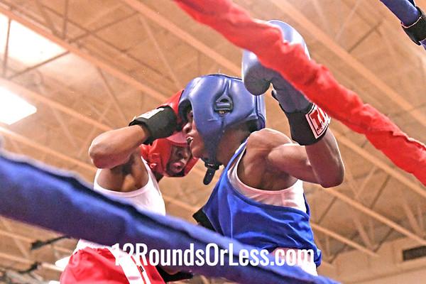Bout #1:  Jamal Bowman, Empire Boxing, Cleveland, OH   vs   Santione Thomposon, Capital Punishment Boxing, Cincinnati, OH - 106 Lbs.