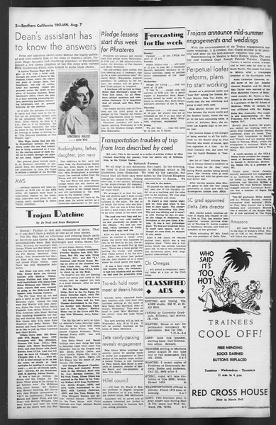 The Trojan, Vol. 35, No. 147, August 07, 1944