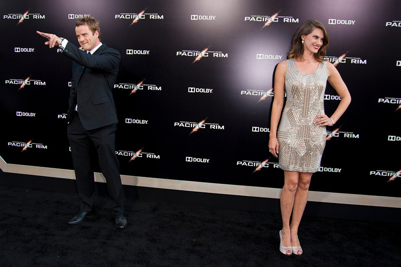 HOLLYWOOD, CA - JULY 09: Actors Robert Kazinsky and Heather Doerksen arrive at the premiere of Warner Bros. Pictures' and Legendary Pictures' 'Pacific Rim' at Dolby Theatre on Tuesday, July 9, 2013 in Hollywood, California. (Photo by Tom Sorensen/Moovieboy Pictures)