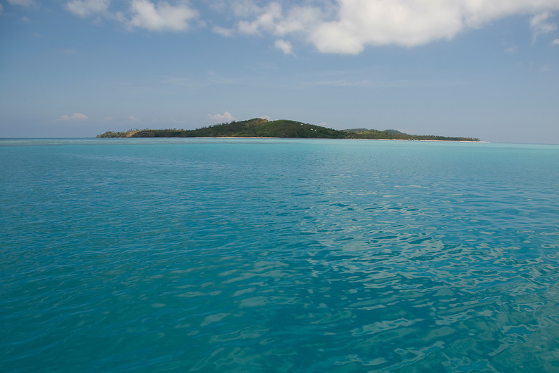 View of island from sea - Yasawa Island, Fiji