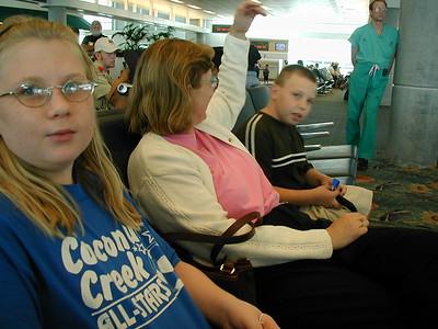 Theona & Jeff at Airport - 8/21/2001