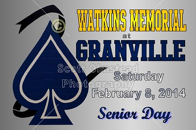 2014 Watkins Memorial at Granville (02-08-14) Senior Day