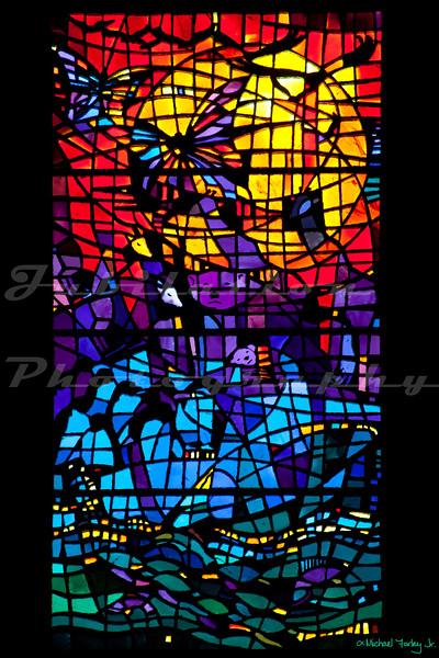 St. Paul's Episcopal Church - Six days of Creation windows - Day 5