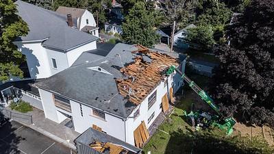 Demolition of Follen roof - August 3, 2018