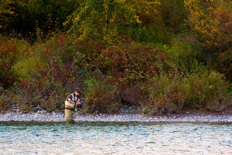 Fly fisherman enjoying the last Friday of summer