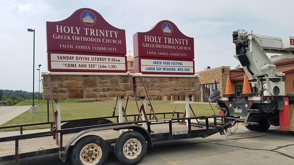 Community Life - Holy Trinity Signs Installation - July 31, 2018