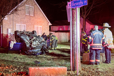 East Main St. Rollover with Extrication (Bridgeport, CT) 2/29/20