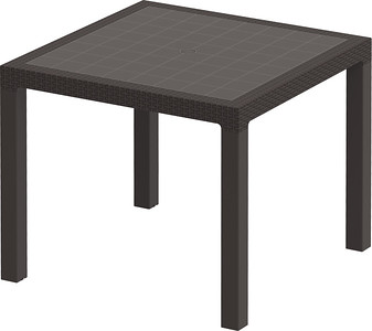 Rattan Dining Table - 4 Seater