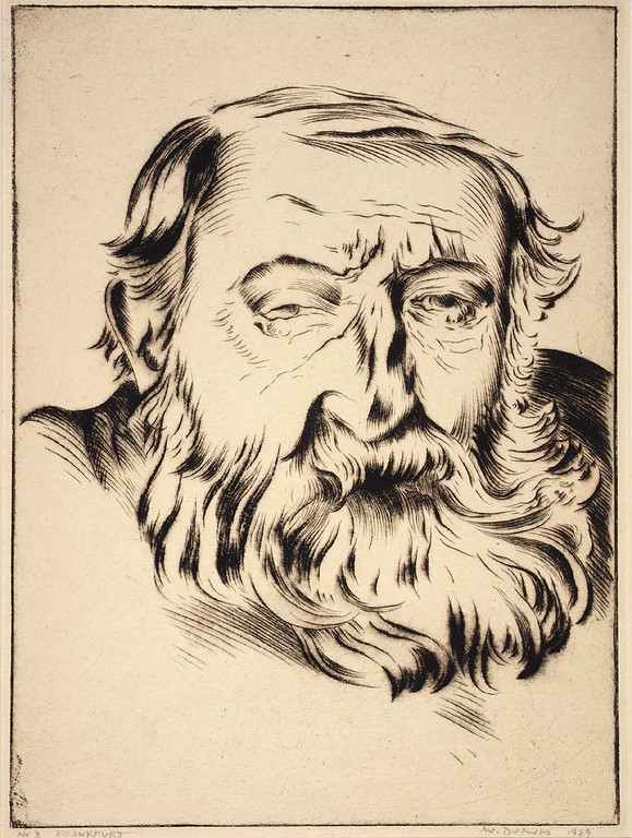 "Werner Drewes, ""Old Man With Beard"" (1929)"