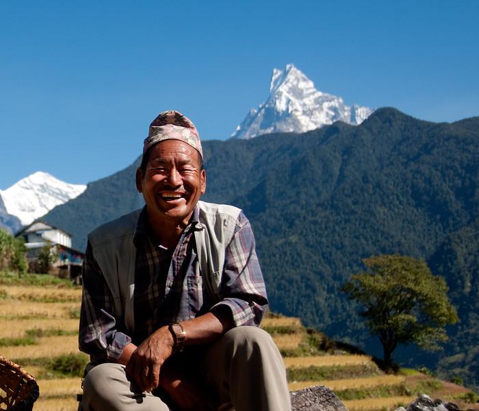 Farmer, Annapurna region, Nepal
