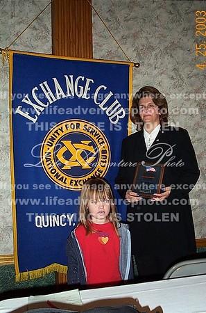 April 25 Teresa getting Paul's award