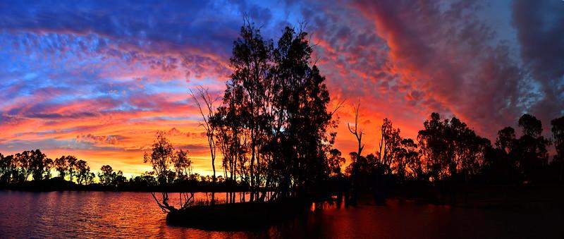Berri Marina sunset