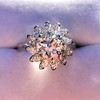 2.87ctw old European Cut Diamond Spray Ring GIA J SI1 20