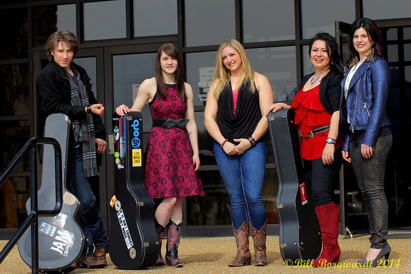 Jesse Mast, Stephanie Lloyd, Christianne Godart, Dahlia Wakefield, Melody Lovejoy ready for the NACMAI competition in Pigeon Forge, Tennessee