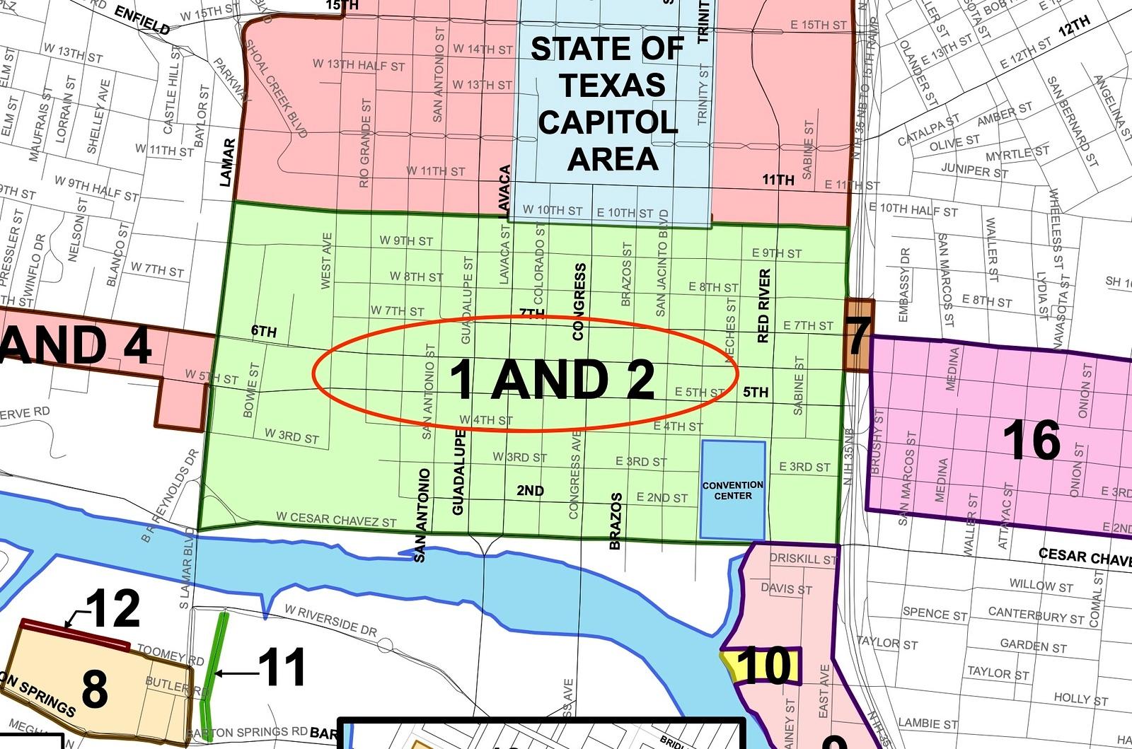 City of Austin parking meter zoning