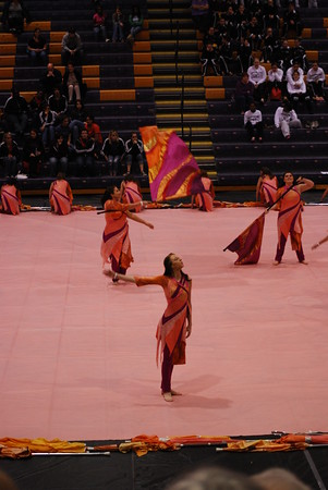 Winter Guard and Percussion at Northwestern