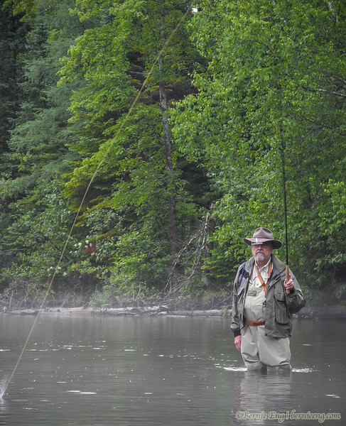 This stretch of the AuSable is perfect for this style of fishing.
