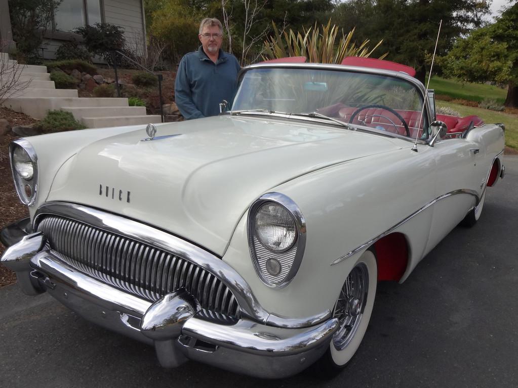 . John Odne of Walnut Creek shows his 1954 Buick Skylark   (Photo by David Krumboltz)