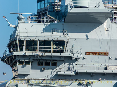 HMS PRINCE OF WALES - on the Mersey - February and March 2020