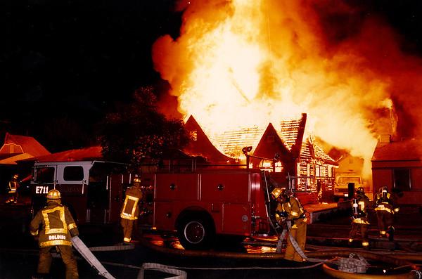 Burbank Fire Dept. House Fire  August 13, 1992