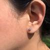 .52ctw Carre Cut Diamond Stud Earrings 2