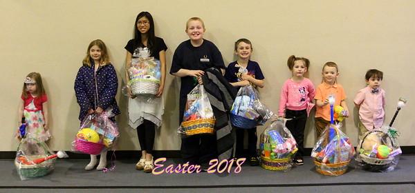 Easter Egg Hunt Awards -Sunday April 1, 2018