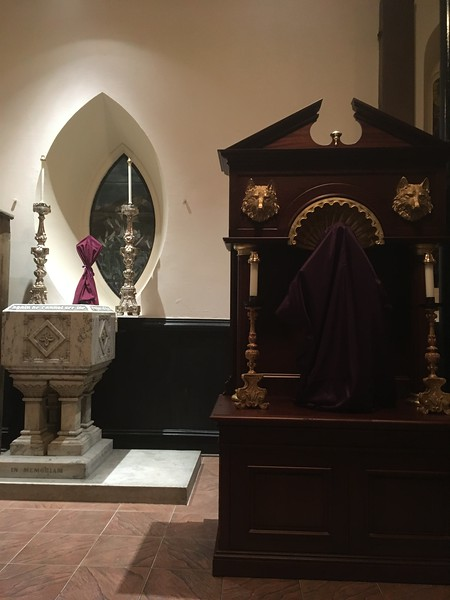 font and St Francis Shrine