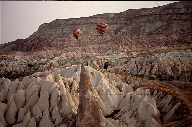 surreal ballooning over Cappadoccia