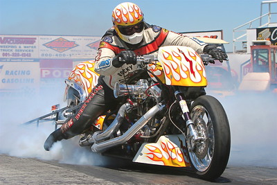 TOP ALCOHOL MOTORCYCLE   RACE ACTION / WINNERS CIRCLE - Part 2 of 2