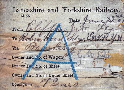 BRITISH RAILWAY WAGON LABELS