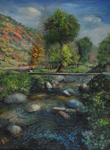 """""""Autumn Solstice"""" (oil on linen) by Yongqing Cui"""