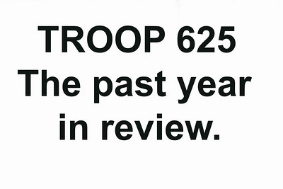 Troop 625: Year in review slideshow