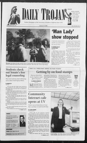 Daily Trojan, Vol. 157, No. 9, January 24, 2006