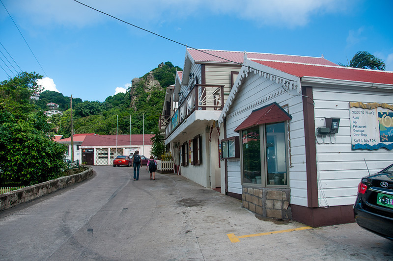 Street scene on the island of Saba