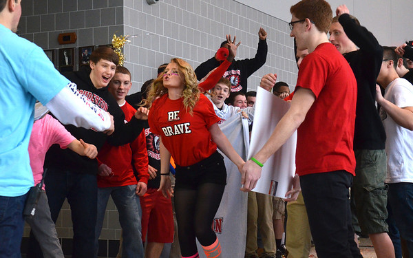 """Brave' video shoot at Souderton Area High School"