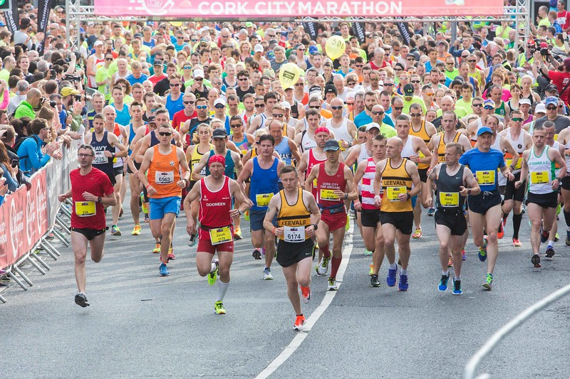 DKANE 06/06/2016 REPRO FREE Runners at the starting point of this years Cork City Marathon. This is the 10th Cork City Marathon and record numbers are expected. PIC DARRAGH KANE