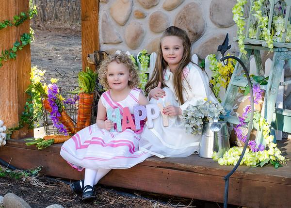Olivia and Amelia- Easter 2018