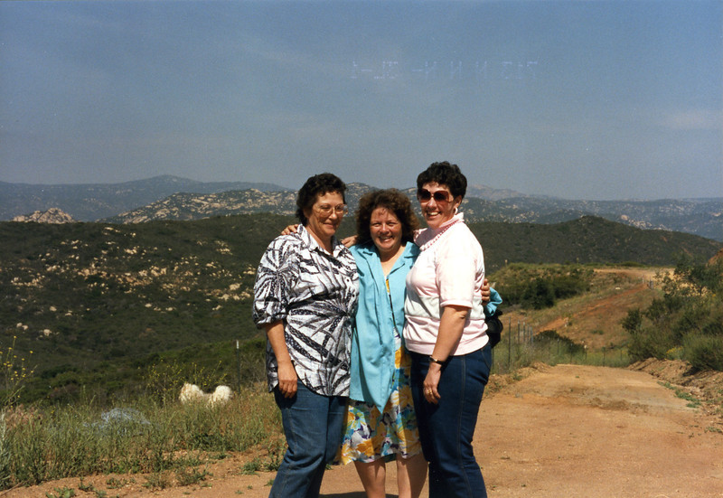 """The girls""- Barbara, Shirley and Judy- Jamul, CA, May 1987"