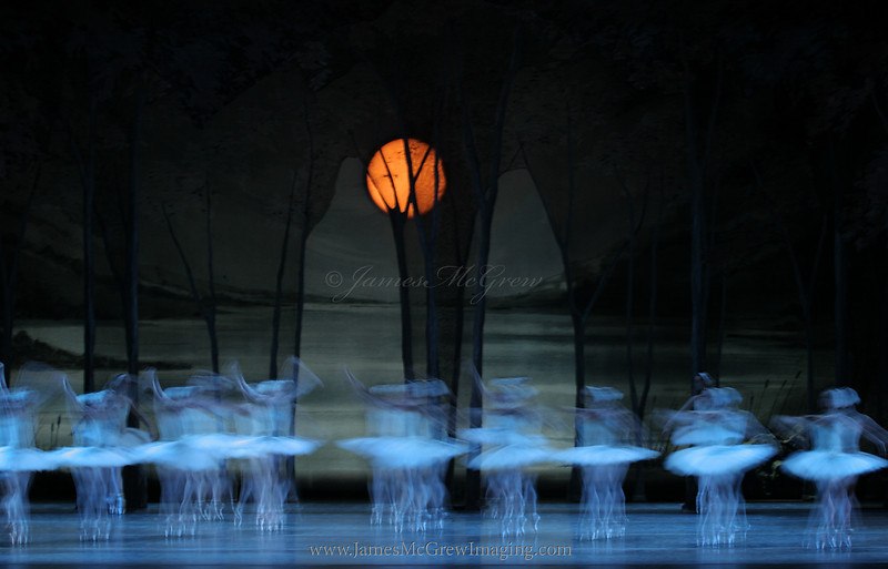 The OBT Corps dancers in Christopher Stowell's Swan Lake