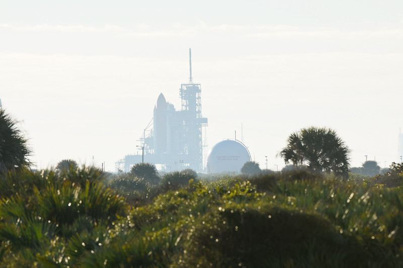 Shuttle on pad from Playalinda Beach