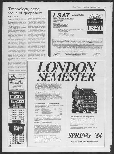 Daily Trojan, Vol. 94, No. 1, August 30, 1983