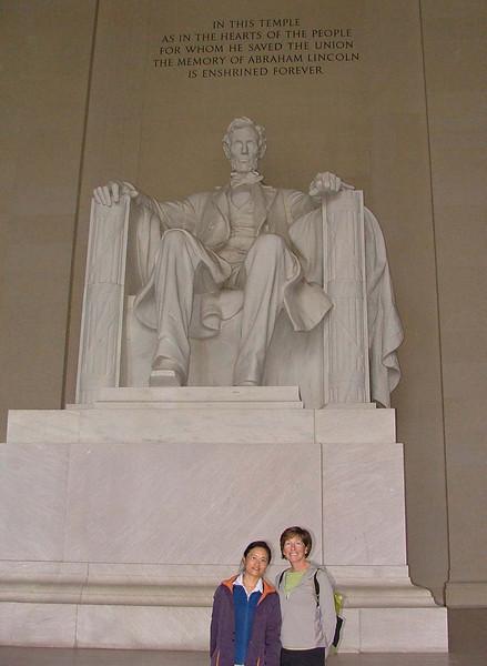 Fei Fei and Jeri at Lincoln Memorial.jpg