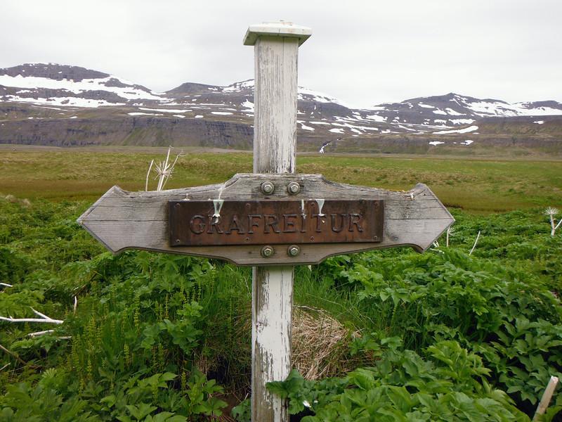 Grafreitur við Höfn í Hornvík