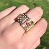 .38ctw Antique Diamond and Ruby Buckle Ring 14